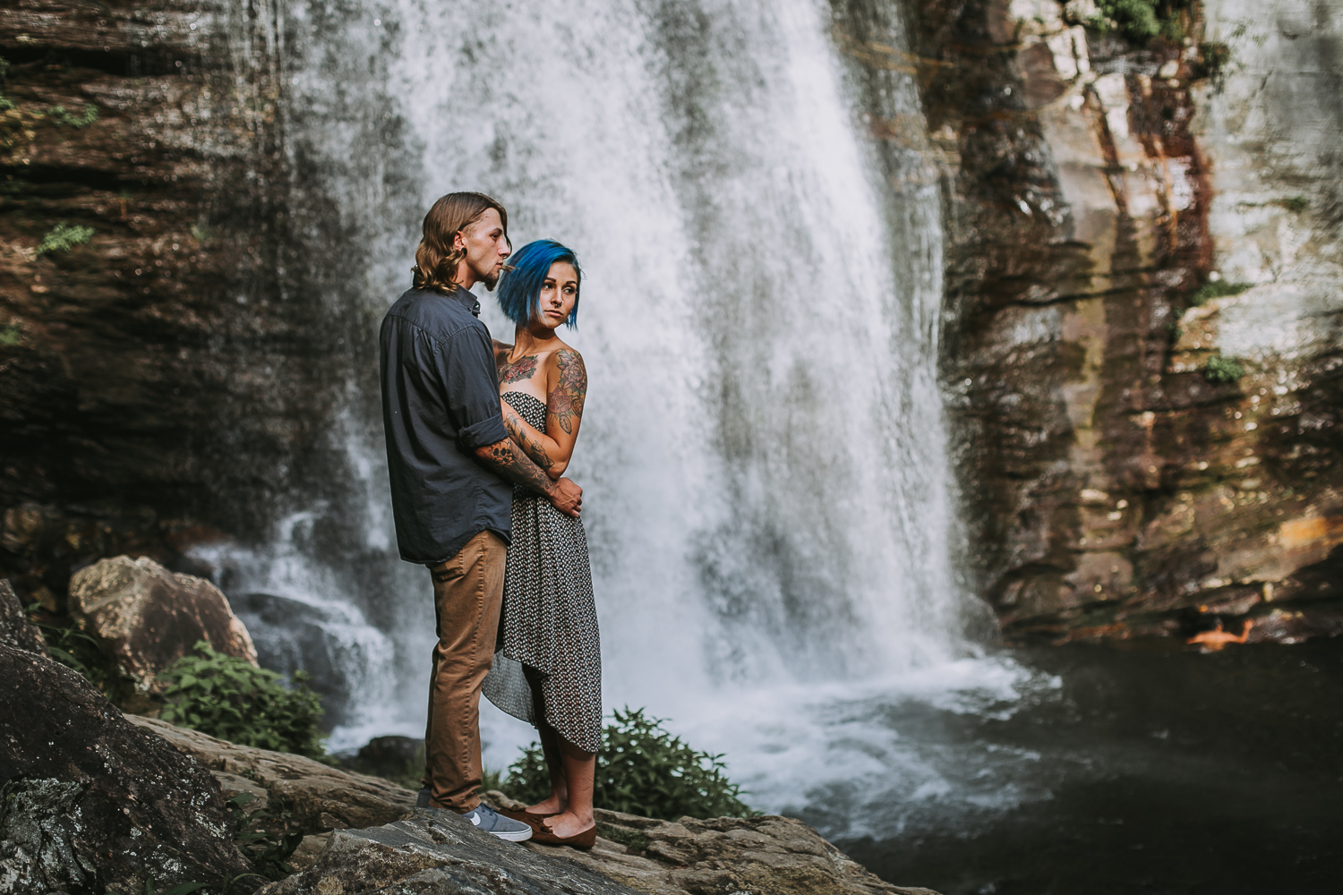 Stephanie + Anthony 6 | Asheville Wedding Photographers // Love Is Wild Photography